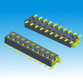 Upper Contact Dual Row Pin Header H 2.2 Female SMT Type Insulation Resistance