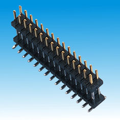 China Black 2mm PCB Header Connector 1000mΩ Min Spacer Dual Row PCB Application factory