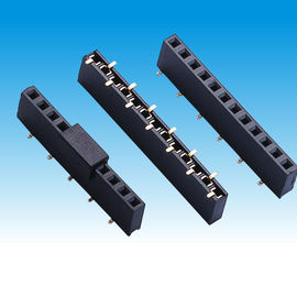 China Dual Row Female Header Connector , U Type Contact Smt Female Header factory
