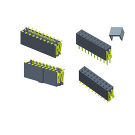 China 7.1 Single Row Female Header Connector 2.54 Mm Pitch SMT Type Long Lifespan factory