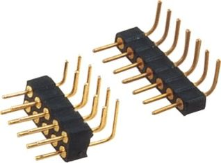China PCB 2mm Right Angle Pin Header Round Male High Strength Stable Performance factory