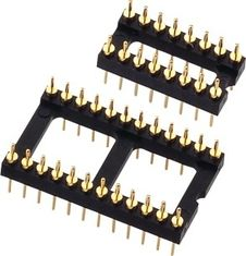 2.54mm Round Machine Pin Headers , Male IC Socket PCB Header Connector