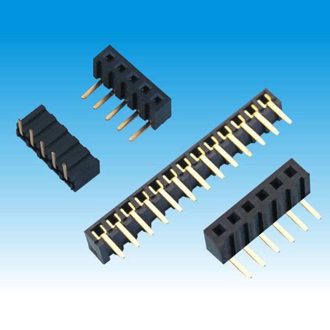 2.0 mm Height 4.3 Single Row Female Header Connector Right Angle Type