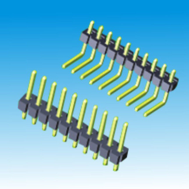 3.96mm Right Angle Pin Header Single Row 5AMP Straight 20mΩ Max Resistance
