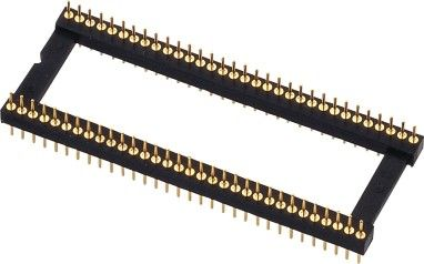 1.778mm PCB Round Female Pin Header PPS Insulator Body Gold Plating